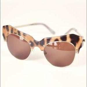 SHAKUHACHI Leopard Cosmic Sunglasses